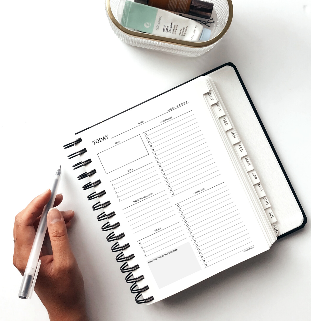 daily productivity planner printable - these printable planner inserts will help you get organized and stay productive while living life!